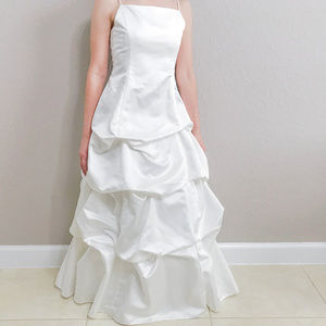 David's Bridal White Dress / Gown